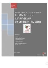 le marche du mariage au cameroun 2010