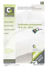 tarifs gain 2013