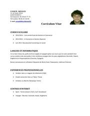 Fichier PDF cv arnaud