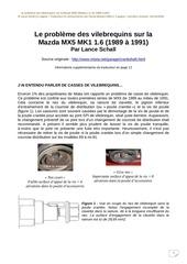 probleme des vilebrequins mazda mx5 mk1 1 6
