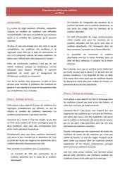 proposition de reforme des coalitions