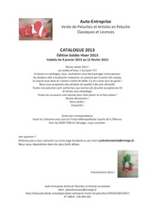 ae catalogue peluches facebook soldes hiver 2013