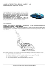 documentation siege motorise peugeot 406 coupe