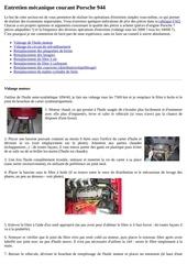 entretien mecanique courant porsche 944
