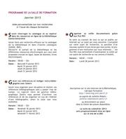 formation janvier 2013