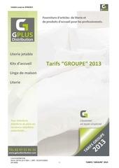 tarifs to 2013
