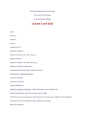 fiche inscription lundi 01 04 13