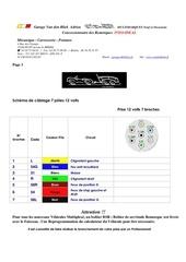 schema de branchement attelage 12 v 7 et 13 broches
