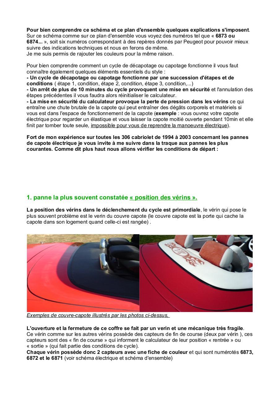 tuto capote 306 cabriolet fichier pdf. Black Bedroom Furniture Sets. Home Design Ideas