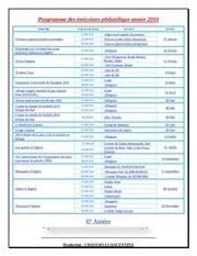 programme des emissions philatelique annee 2010
