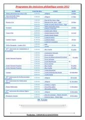 programme des emissions philatelique annee 2012