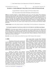 Fichier PDF 12 karadeniz ve akdeniz bolgesinde yeti en defne laurus nobilis nin kimyasal ceri i e karao ul m erta e altunta m h alma