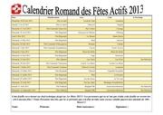 calendrier des fetes actifs 2013