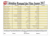 calendrier des fetes jeunes 2013