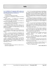 loi 2005 88 avantages alloues aux presidents de la republique des la cessation de leurs fonctions