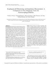 esophageal ph monitoring and impedance 9 1