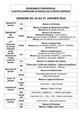 semaine du 19 au 27 janvier 2013
