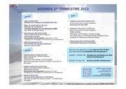 agenda 1 trimestre 2013