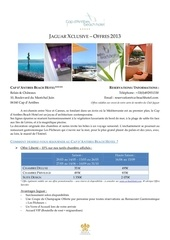 cap d antibes beach hotel offres exclusives jaguar 2013