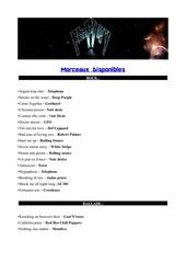 set list pour pdf