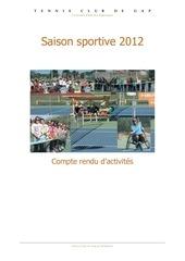 tennis club gap rapport activites