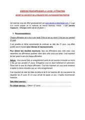 exercice loi attraction 21j