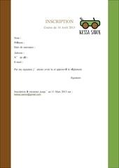 dossier inscription reglement kessa savon 2013