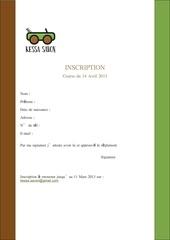 dossier inscription reglement kessa savon