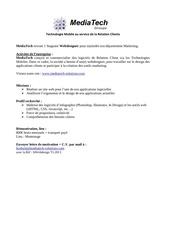 annonce stage webdesigner t1 2013