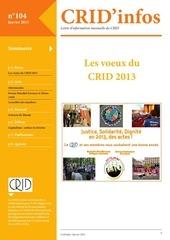 crid infos janvier 2013
