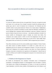 note conceptuelle de reflexion sur le modele de developpement par manel khadraoui