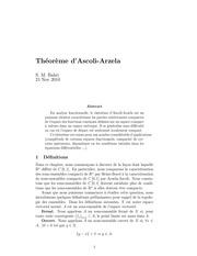 theoreme d arzela ascoli