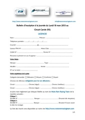 bulletin d inscription licencies lundi 18 mars 2013 v3