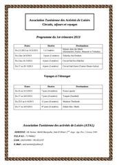 programme printemps 2013