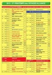 calendrier mars oct 2013