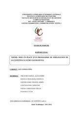fidelisation des assurances au cameroun afrique 2012