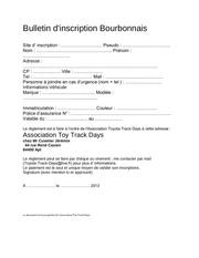 Fichier PDF bulletin d inscriptions journee bourbonnais toy track days