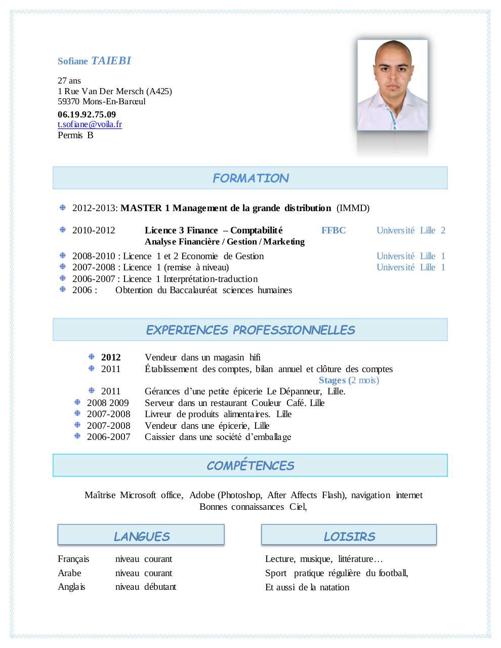 sofiane taiebi par tabet merwane - cv etudes 2013 pdf