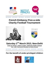 french embassy football tournament 2013