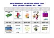programme vacances hiver 2013 ortaffa pj 2