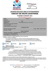 inscription roulage 01 07 13