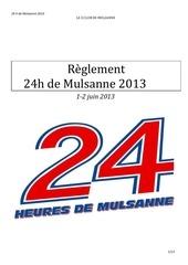 reglement 24h 2013