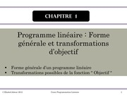 cours programmation lineaire 2 1