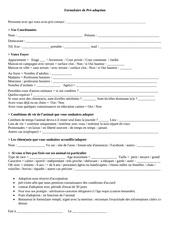 Fichier PDF formulaire pre adopt
