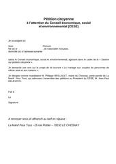 petition citoyenne