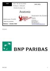 texte roneo 2 anatomie