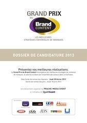 dossier de candidature 2013