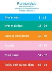 guide des objets publicitaires 2012