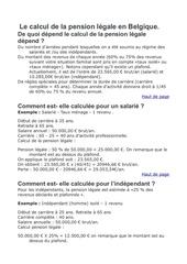 Fichier PDF pension