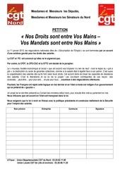 petition nos droits sont entre vos mains